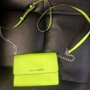 Michael Kors lime green mini purse